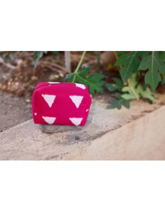 PINK BLOCK POUCH