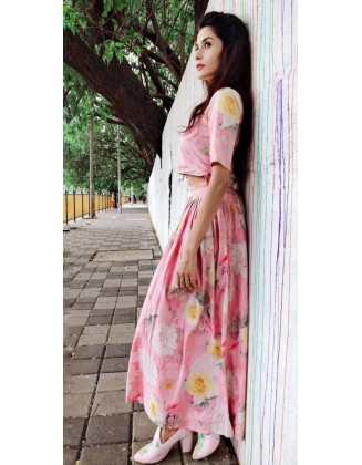 PINK FLORAL FULL TWO PIECE SET