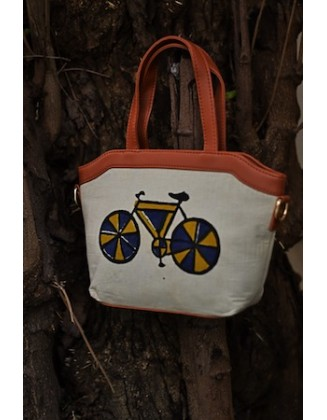 BLUE CYCLE QUIRK SLING BAG